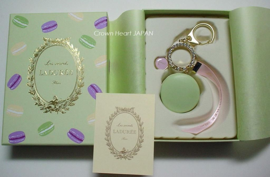 collection entière nuances de couleurs délicates New LADUREE Keychain Ring Green Macaron Rhinestone Charm in ...