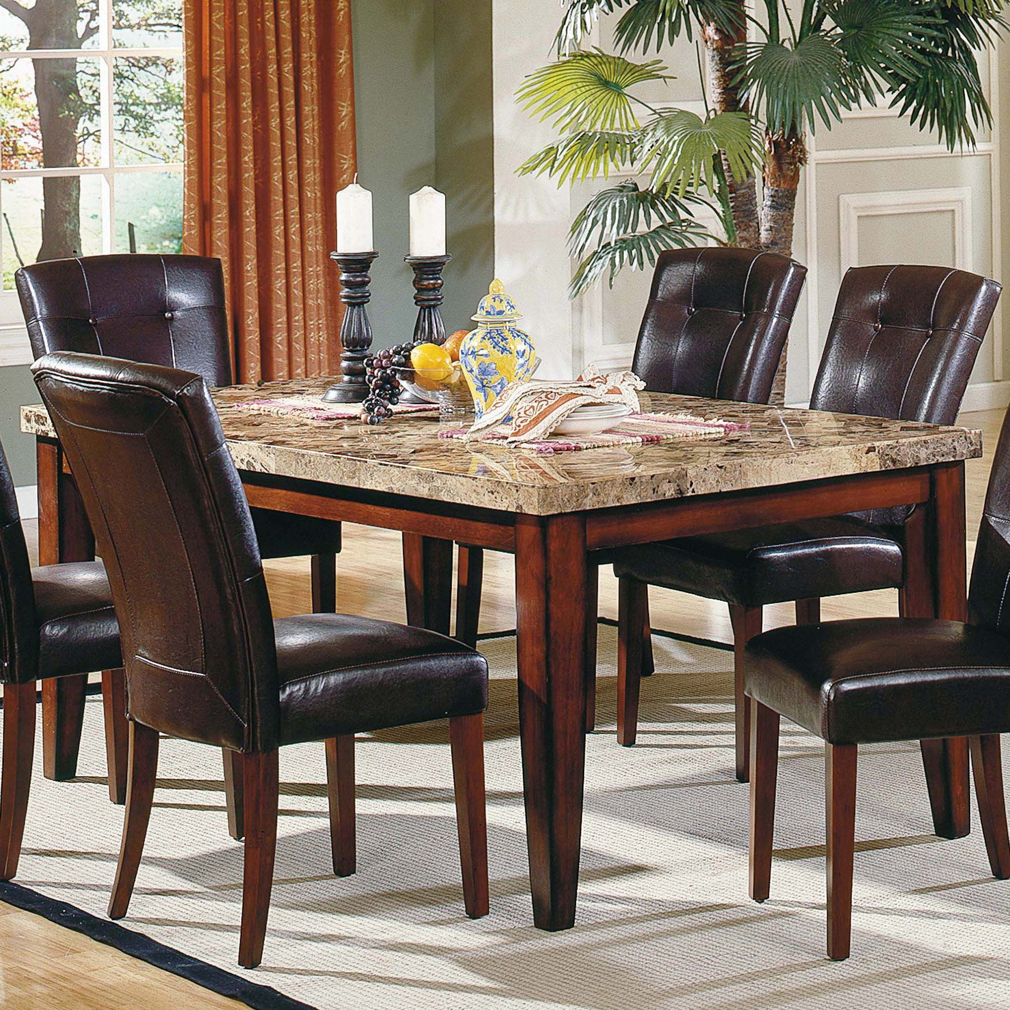 Have To Have Itsteve Silver Montibello 5Piece Marble Top New Steve Silver Dining Room Set Design Decoration