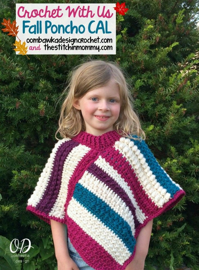 Crochet with Us - Fall Poncho CAL Introduction Post • Oombawka ...