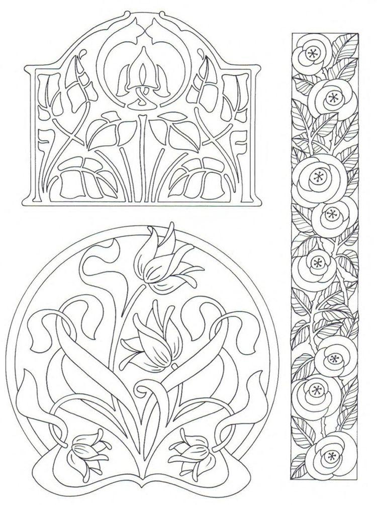 Zeit Fur Mich Jugendstil Muster Und Designs 10