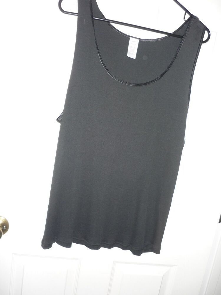 3ed25938b NWOT Women's Black Tank Top Plus Size 2X / 2T Black Ribbed Sleeveless  #fashion #clothing #shoes #accessories #womensclothing #tops (ebay link)