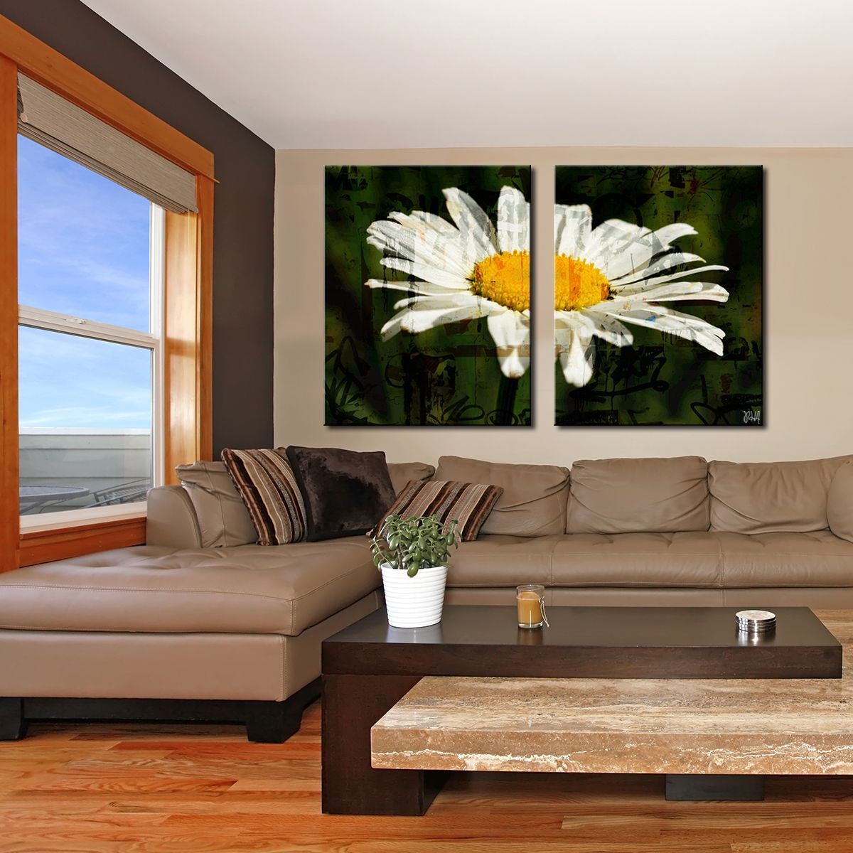 Readyhangart upainted petals xcixu piece canvas art set