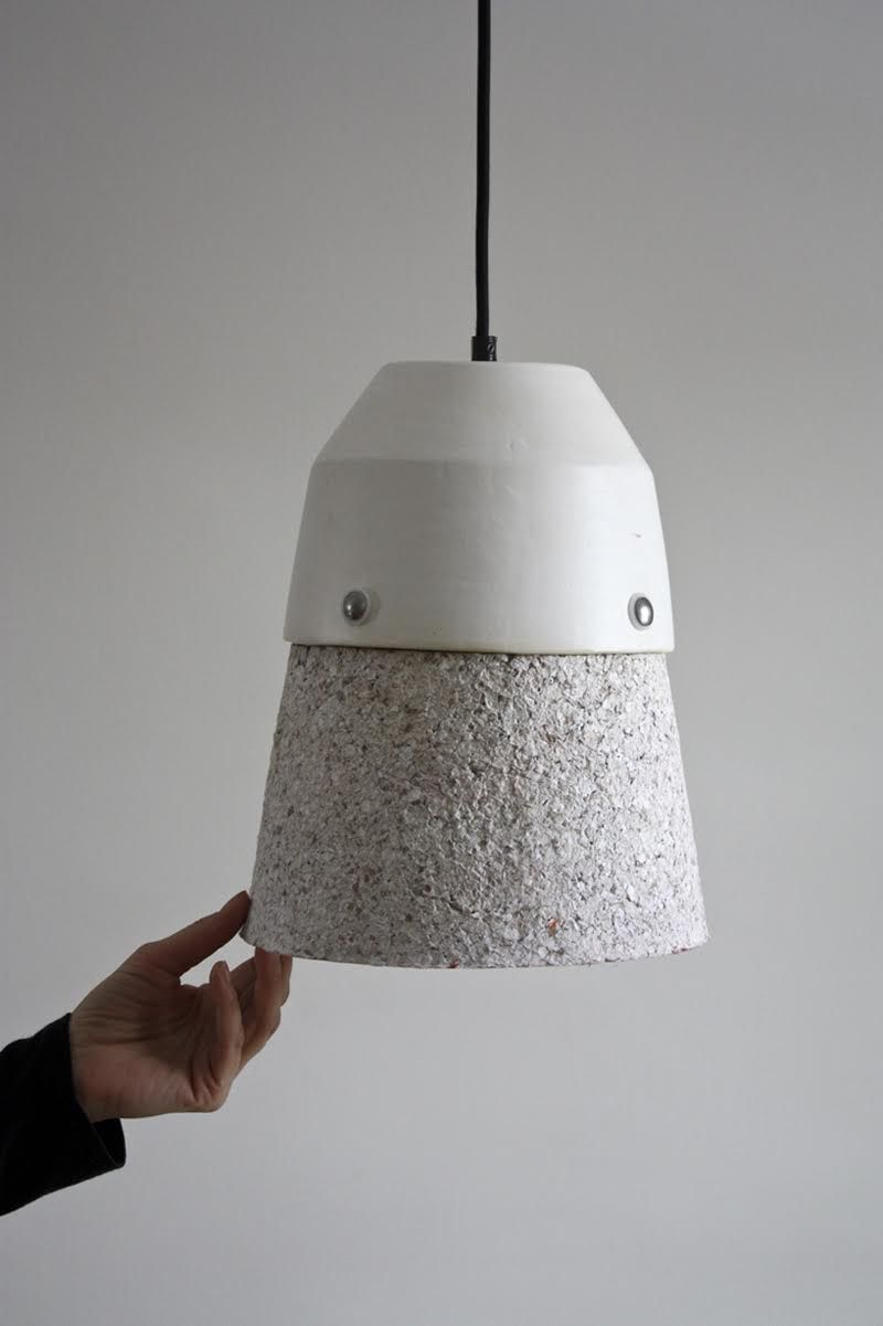 Montreal studio Dear Human recycle paper into furniture in ... for Recycled Paper Lamp  61obs