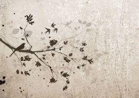 Carta da parati personalizzabile ABC Decò - Carta da parati floreale