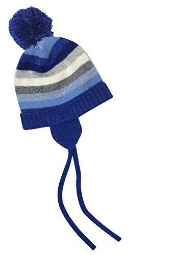 40621e487d1 Cozy Pure Cashmere Stripe hat for baby and children. Hat features earmuffs  that cover child s ear to keep them warm and stylish.