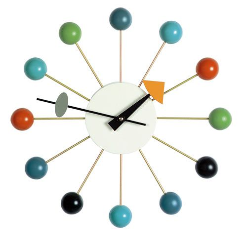 Buy the VITRA Ball Clock online at http://www.utilitydesign.co.uk/mall/productpage.cfm/UtilityDesign/_UT30117/343950/VITRA%20Ball%20Clock#.VJLsAmSsUow