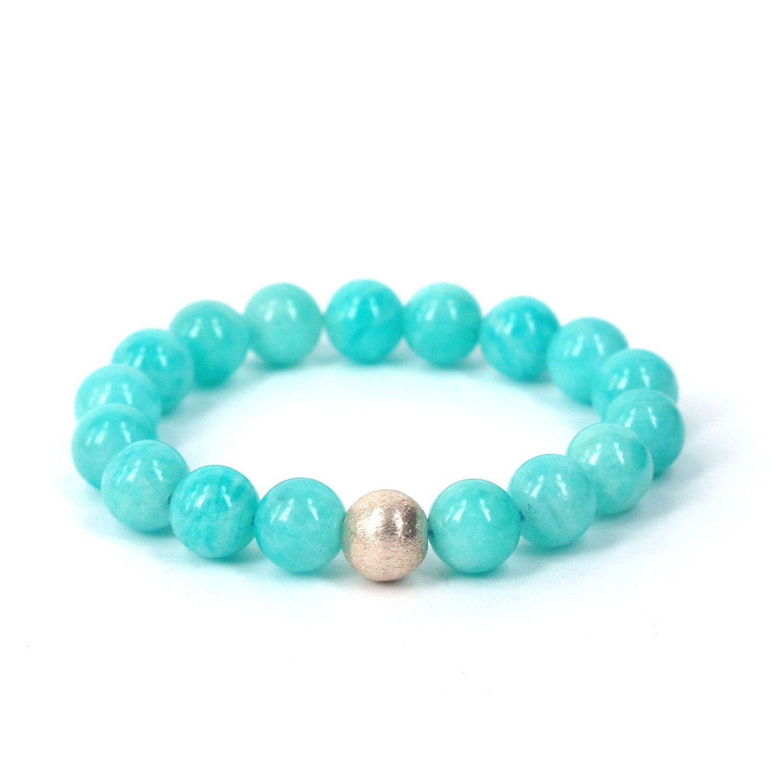 8dfb3dca3708 Blue Amazonite Bracelet . calming soothing stacking stretch beaded ...