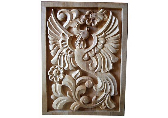 Wood Art Wall Hanging Woodcarving Home Decor by CarvingRoots