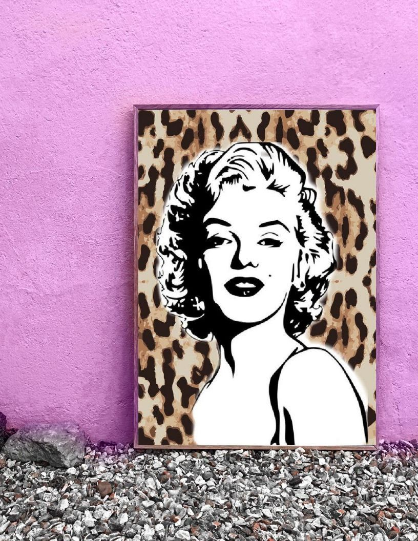 Marilyn Monroe Digital Print Wall Art Modern Art Home Decor