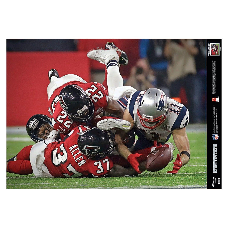 Julian Edelman Super Bowl 51 Catch Mural With Images Julian Edelman New England Patriots England Patriots