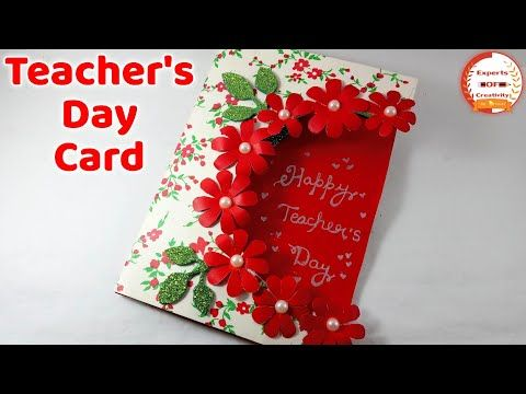 DIY Teacher's Day card/ Handmade Teachers day card making idea/Teacher's Day Special 2019 - YouTube #teachersdaycard