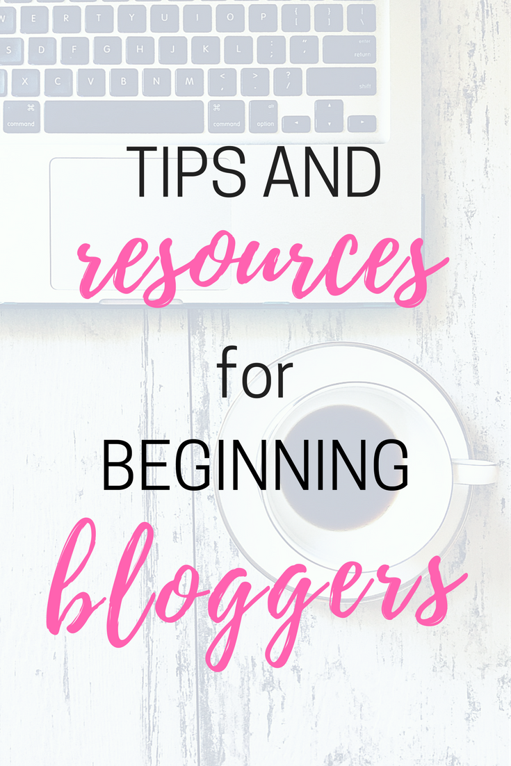 tools and resources for beginning bloggers