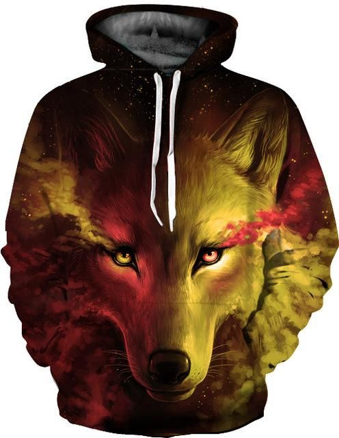 Unisex Wild Stares Tiger 3D Printed Pullover Long Sleeve Fleece Hooded Sweatshirts with Pockets