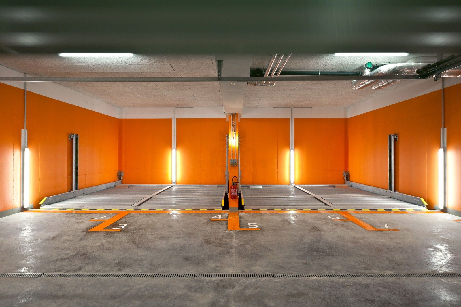 . Garage color scheme   Garage   Garage lighting  Garage interior