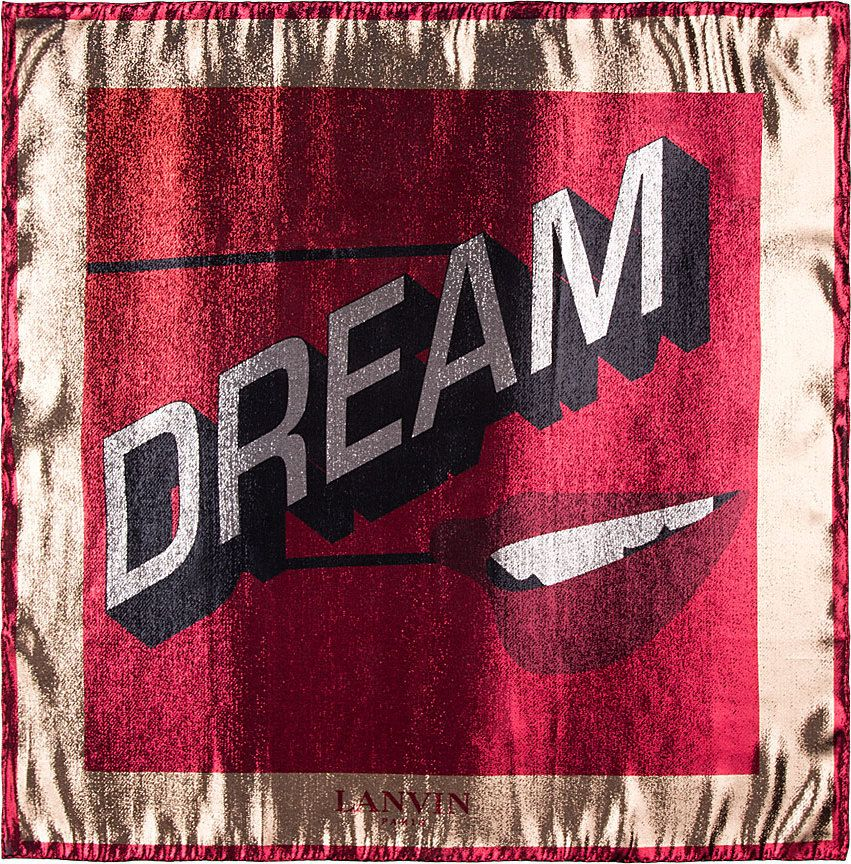 Lanvin - Red Metallic Dream Scarf   SSENSE