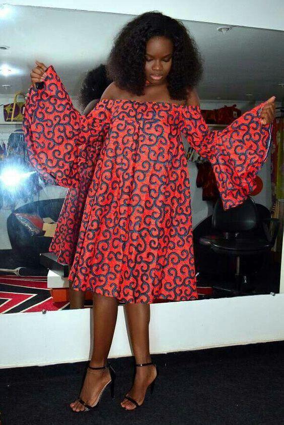 Model Pagne Africain Robe Courte 2018