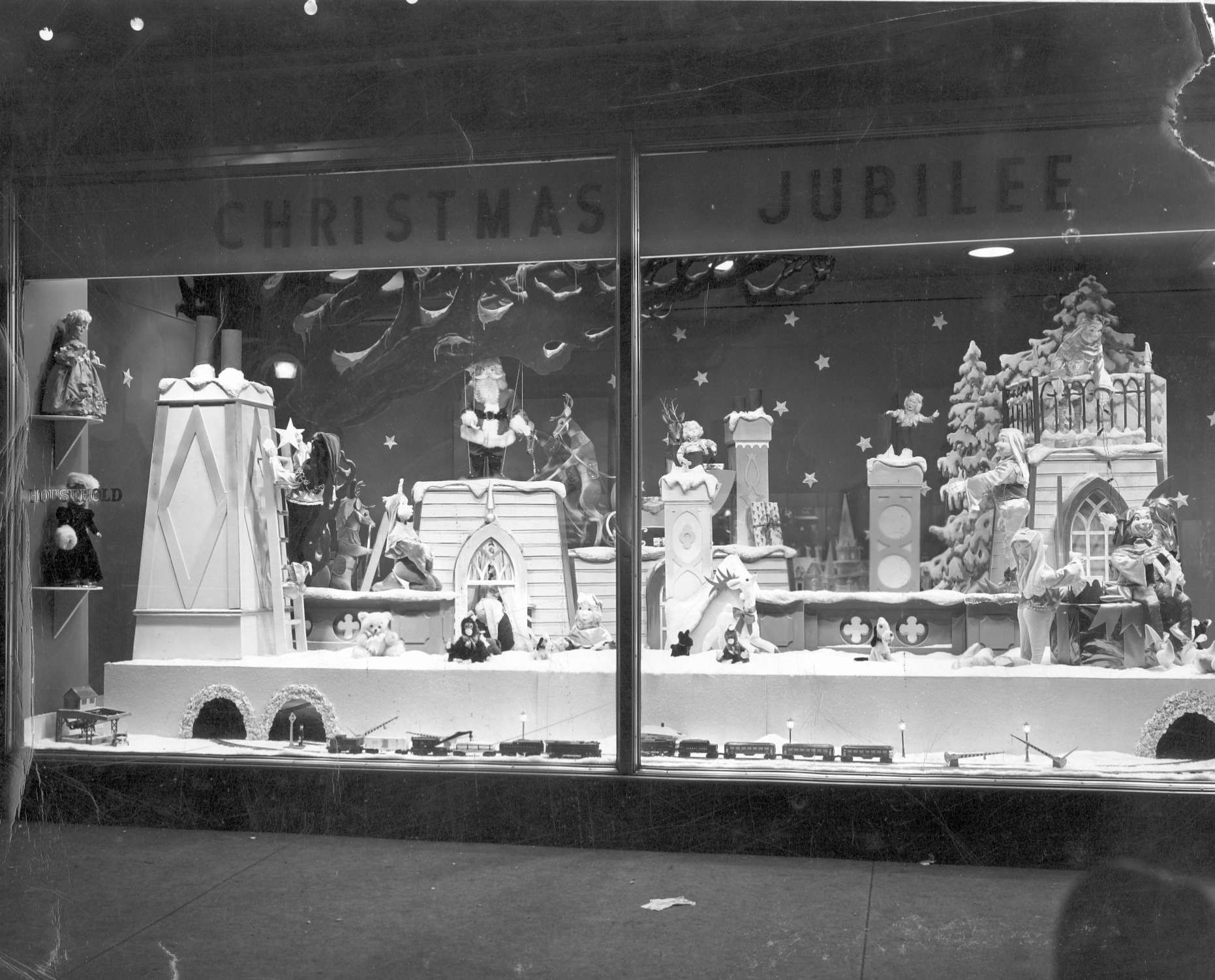 Vintage christmas decorations 1950s - Vintage Christmas Store Window Displays Google Search
