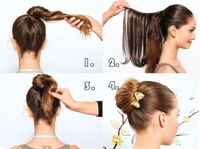 Frisuren lange haare knoten