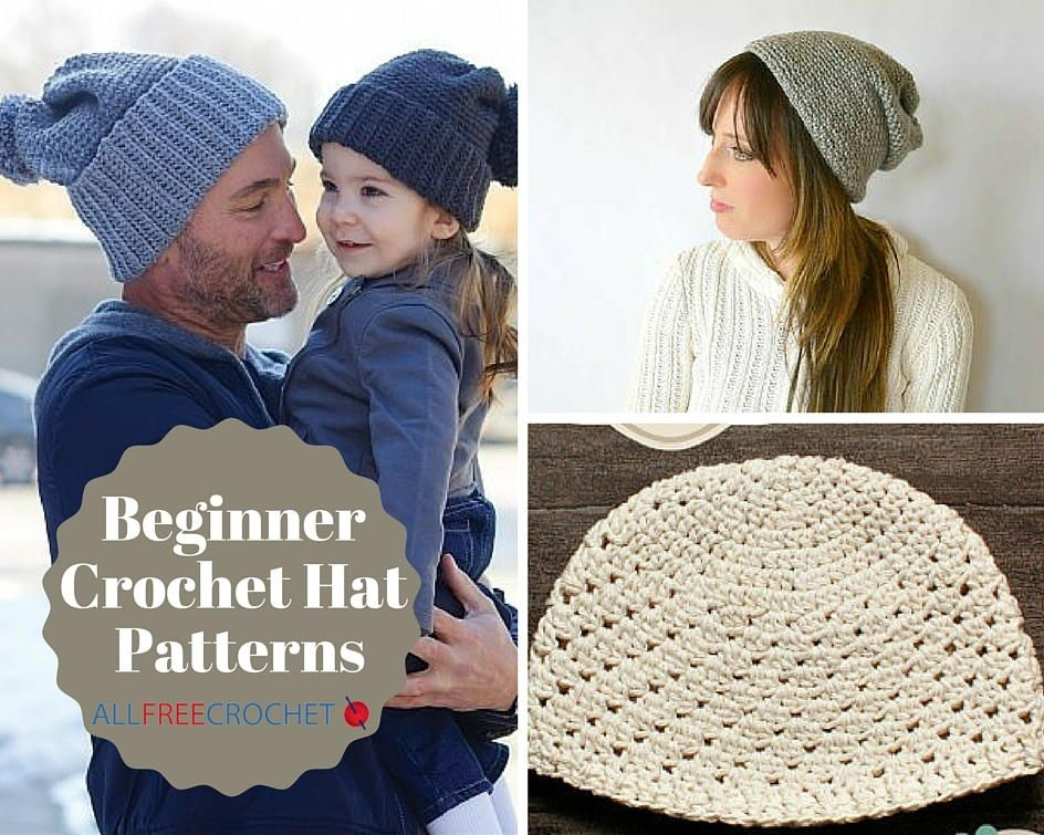 7ae0b106622 34 Beginner Crochet Hat Patterns - for every member of the family!