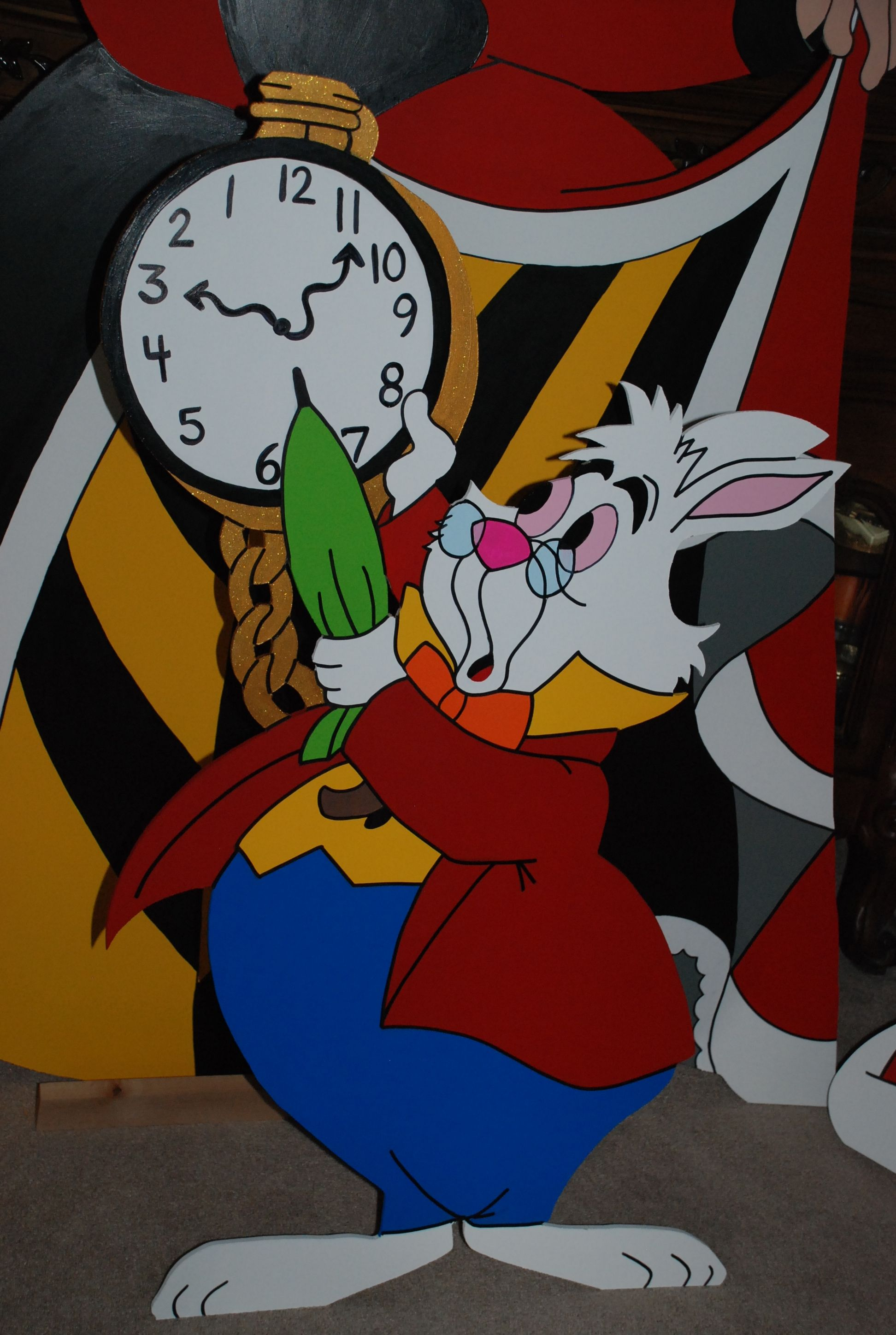 Alice In Wonderland White Rabbit Character Party Prop
