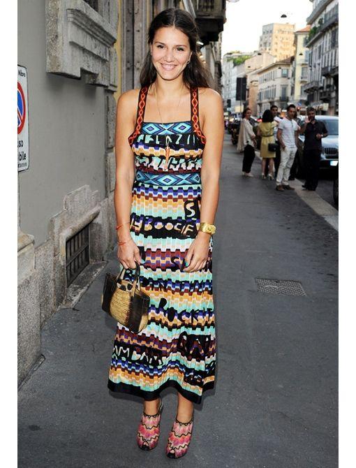 e346eda68186 ... italian fashion designer  Margherita Missoni in Missoni dress and shoes