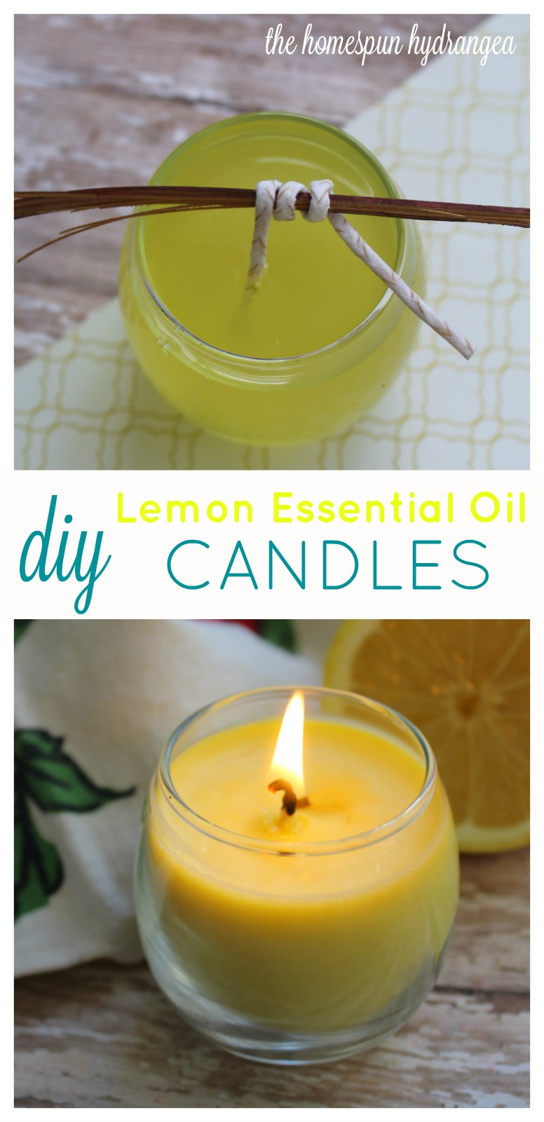 Homemade Lemon Essential Oil Candles Recipe The Homespun