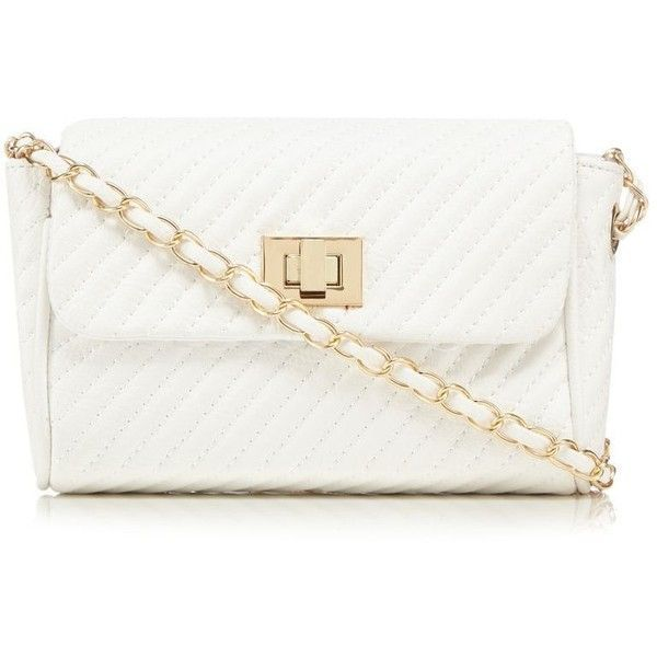 Red Herring White quilted chain cross body