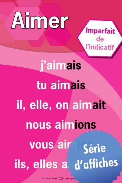 Affiches des verbes - Imparfait de l'indicatif | Affiche ...