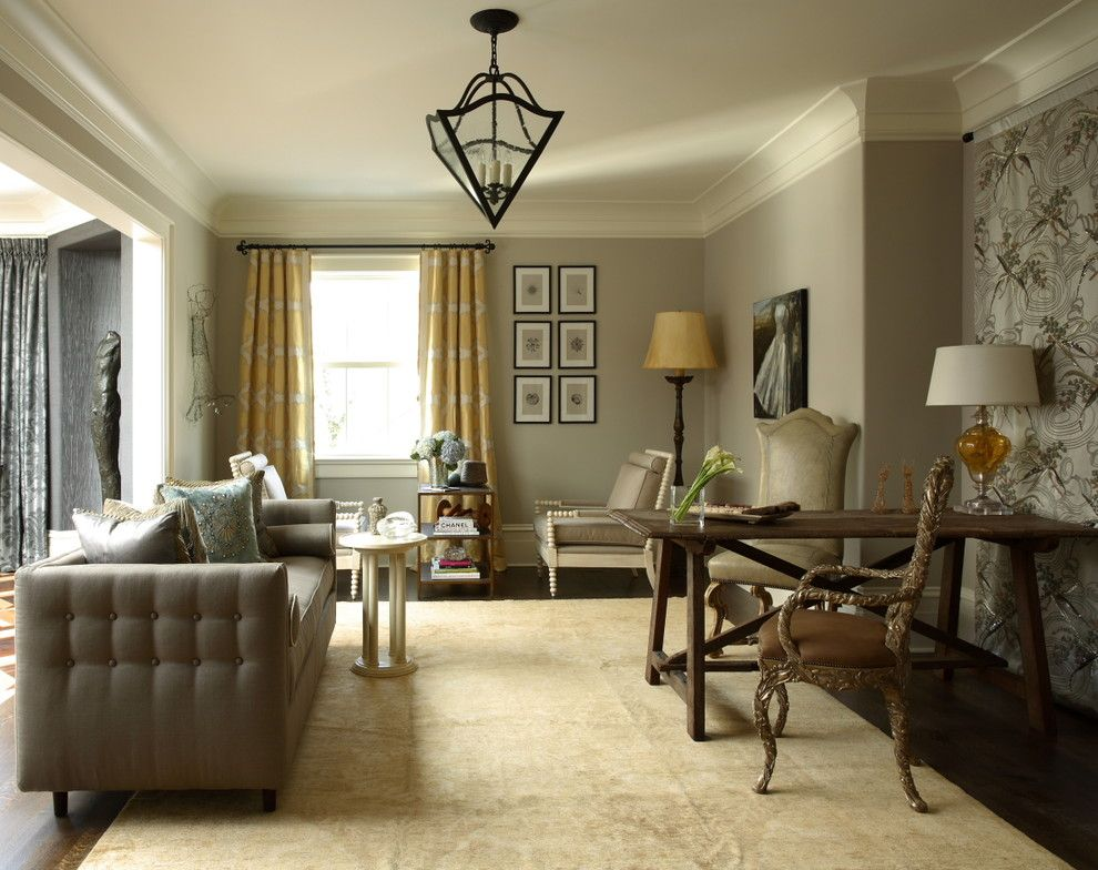 Beautiful magnificent benjamin moore revere pewter for Beautiful living rooms traditional