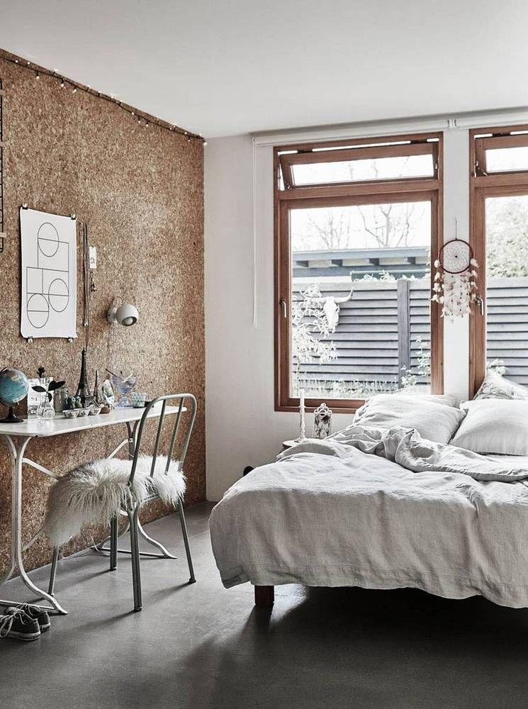 23 Ways To Use Cork Decor Walls Minimalist Bedroom Design Remodel Bedroom Bedroom Design Trends