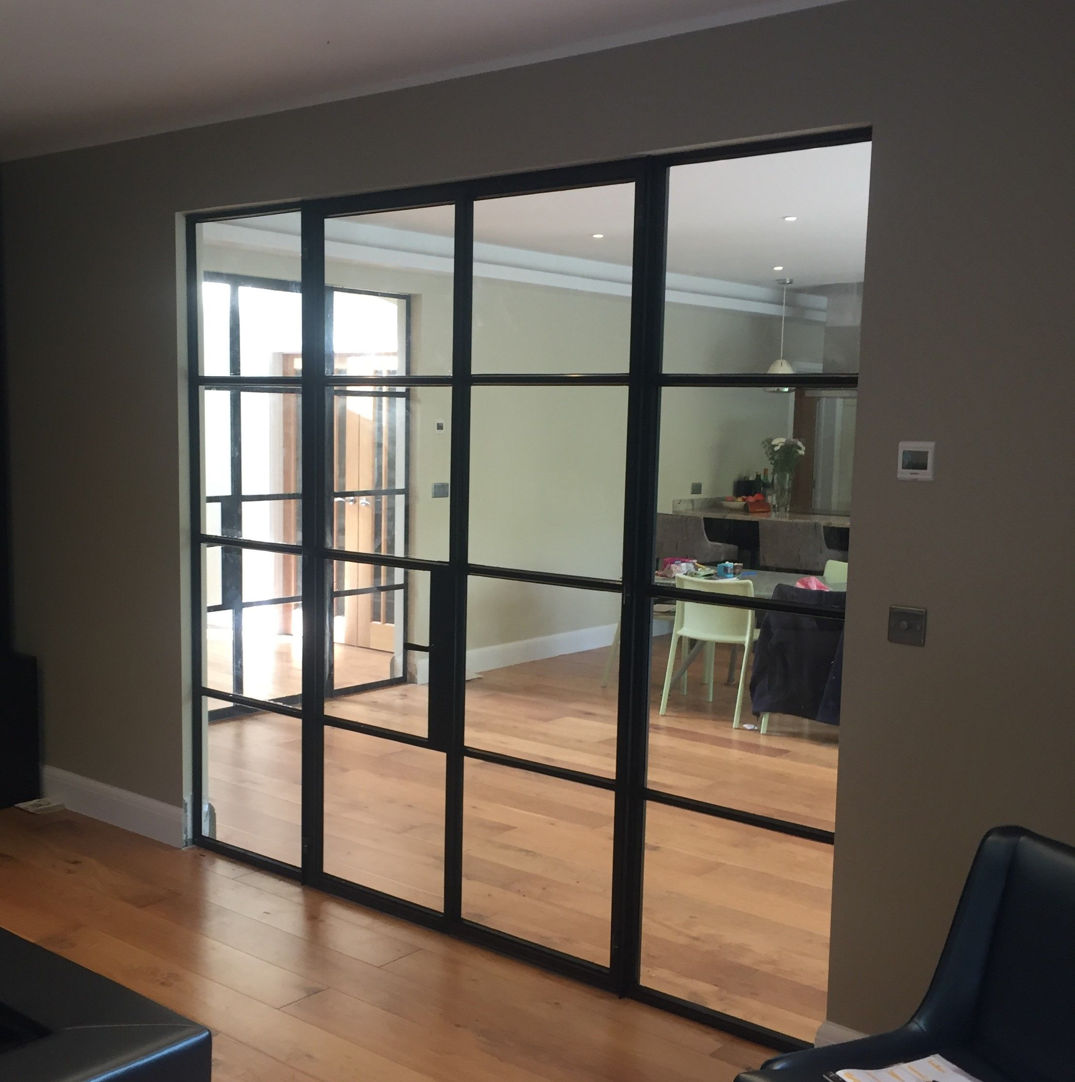 Internal Crittall Door Screen To Divide Kitchen And Living