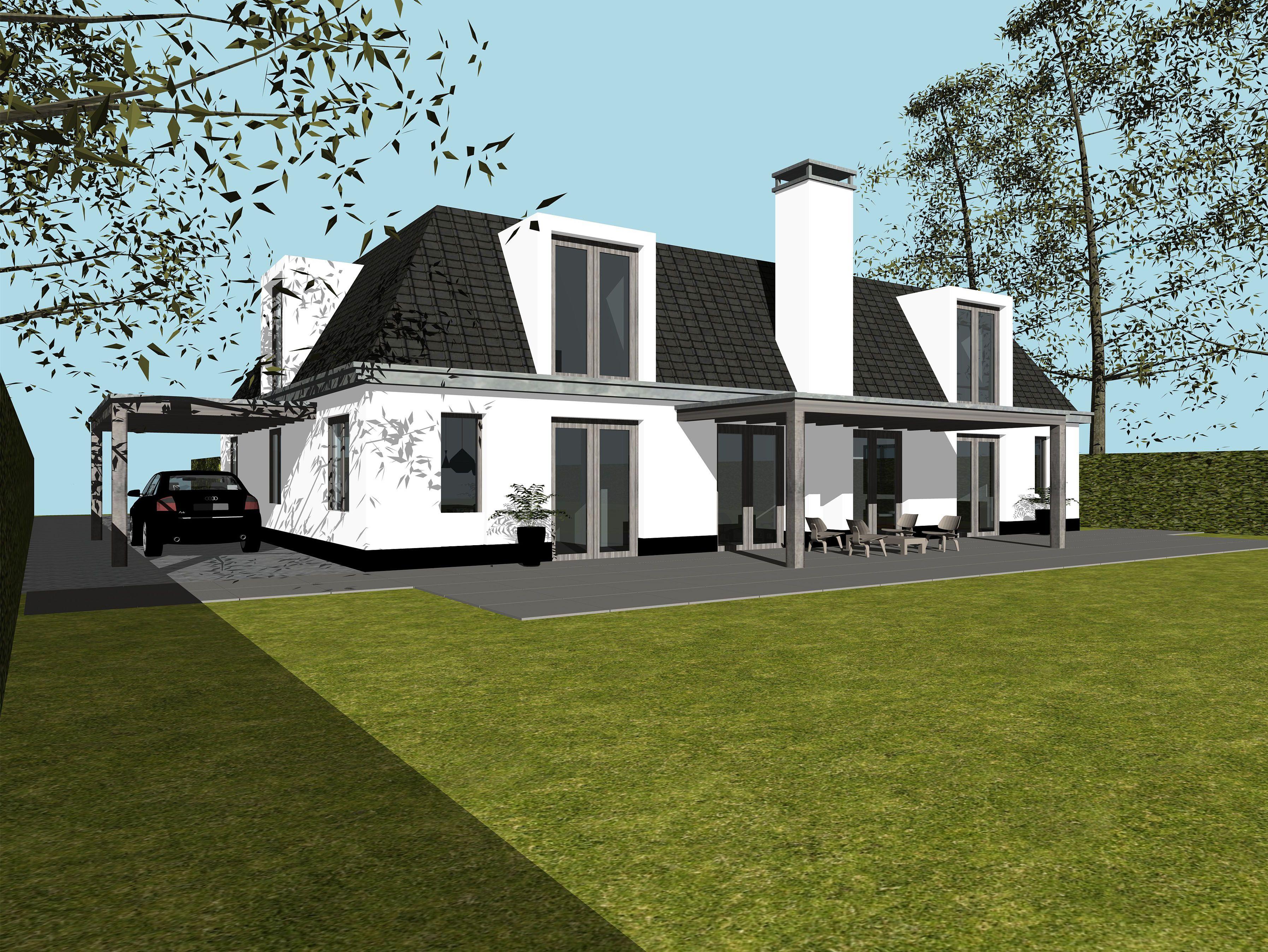 2 onder 1 kap nieuwbouw landelijke stijl google zoeken huis landelijk modern pinterest for Modern huis binnenhuisarchitectuur villas