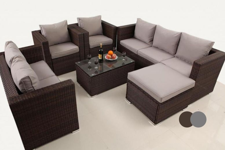 Two Seater Rattan Garden Furniture 8 seater rattan garden furniture set 2 colours deal in sheds 8 seater rattan garden furniture set 2 colours deal in sheds garden furniture get an eight seater rattan set with a three seater and two seater sofa workwithnaturefo
