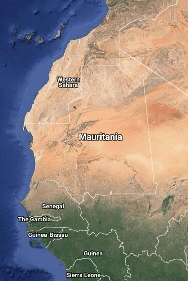 Mauritania - Google Maps | north africa | Western sahara, Countries ...