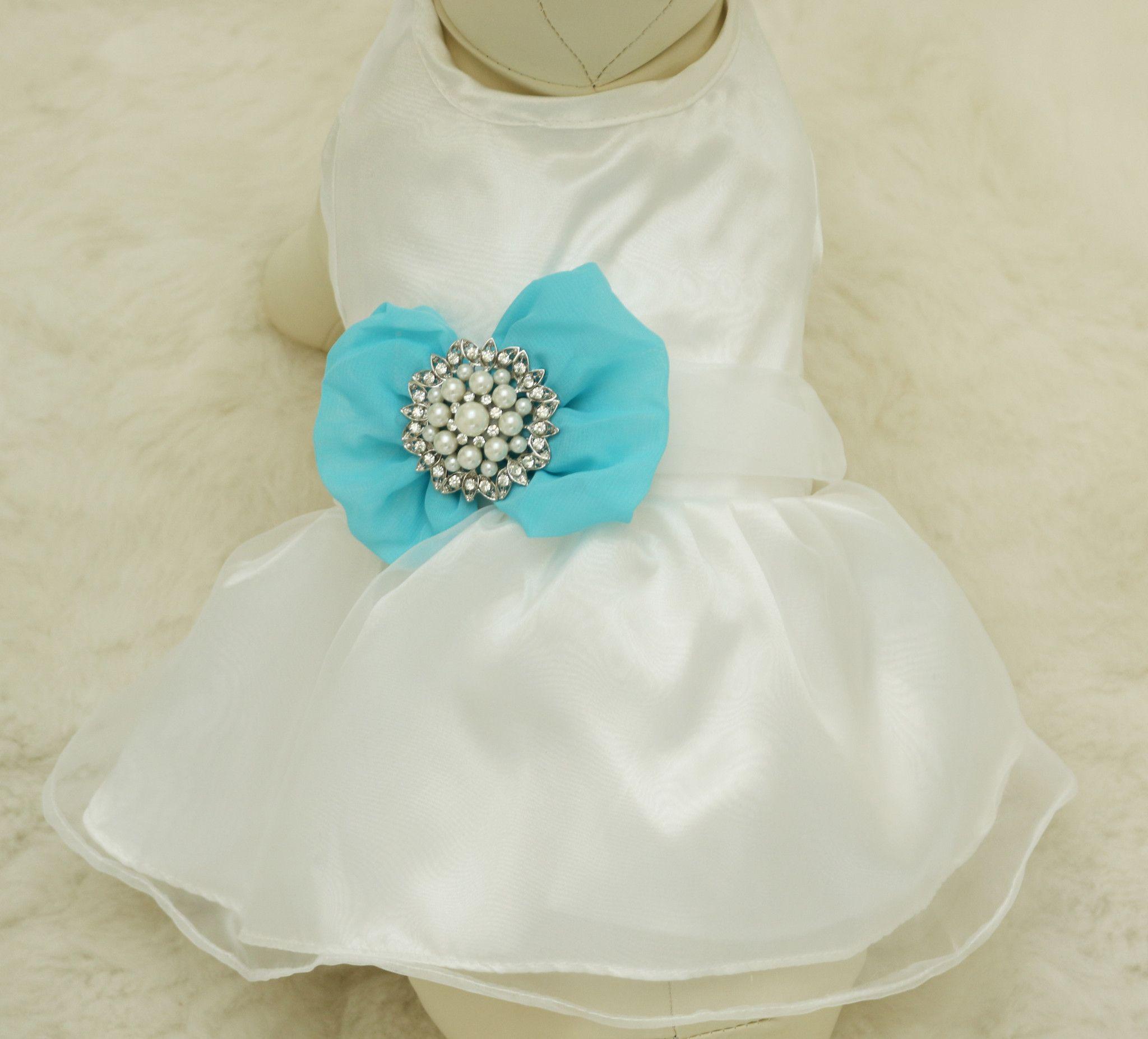 Blue Dog Dress, Pet wedding accessory   Dog wedding, Pearl beach and ...