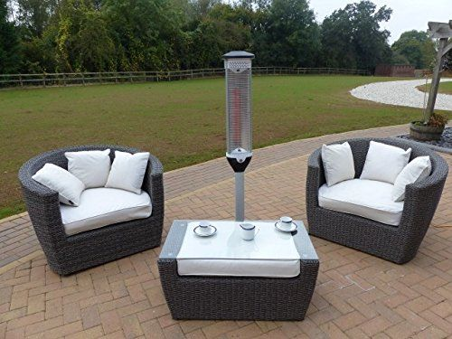 Stylish Patio Heater Oceans Rattan Furniture Java Heater Amazon Co Uk Garden O Rattan Garden Furniture Sets Garden Furniture Sets Patio Furniture Pillows