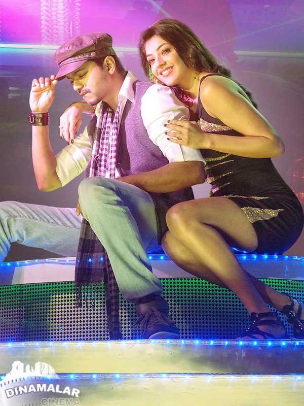 Vijay And Kajal Aggarwal In Thuppaki Veethi Cute Actors Indian Actress Pics Tamil Movies