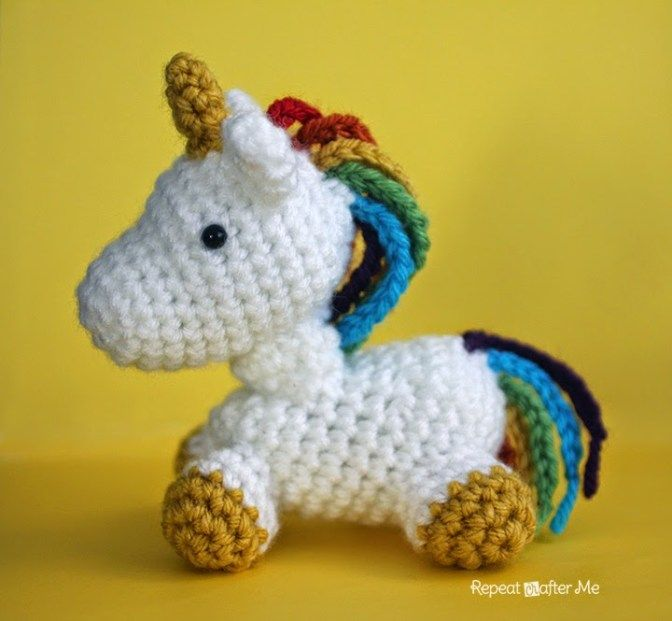Crochet Unicorn Amigurumi | Pinterest | Einhörner, Filz und Selber ...