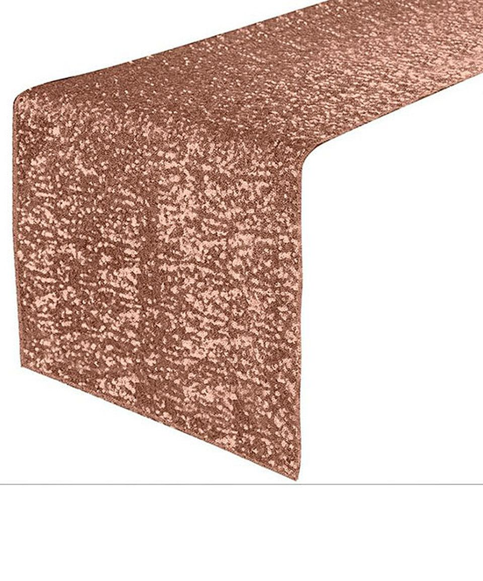 Take a look at this Rose Gold Sequin Table Runner today!