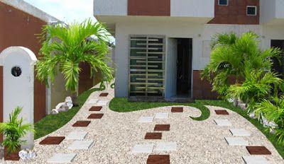 Dise o de jardines peque os minimalistas jardines en for Disenos de frentes de casas