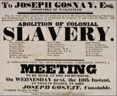 1834 Britain's Abolition Slavery Act goes into effect, with the ...