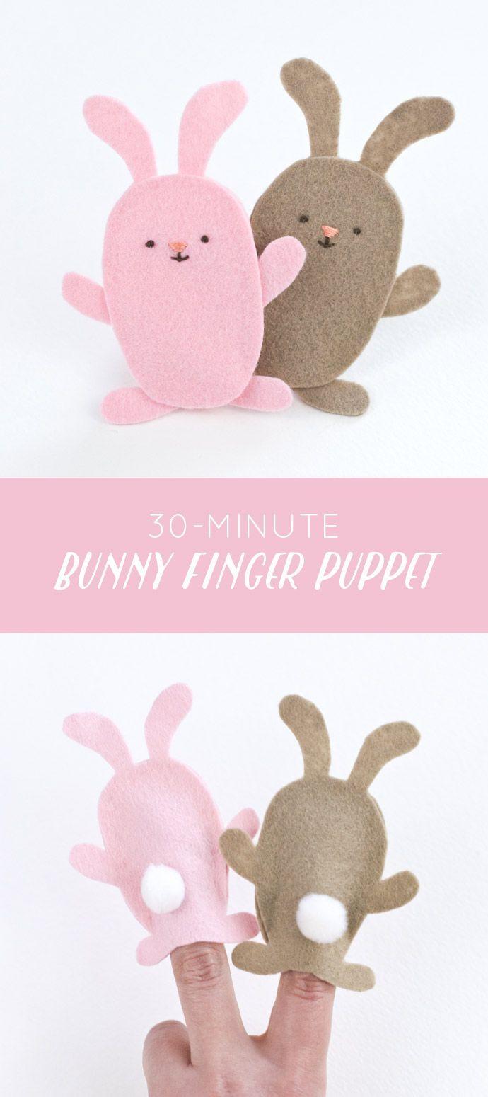 easy felt bunny finger puppets // wild olive | Easter | Pinterest ...
