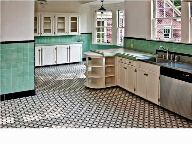 1940s Kitchen Floor | Black & Copper | Pinterest | 1940s kitchen ...