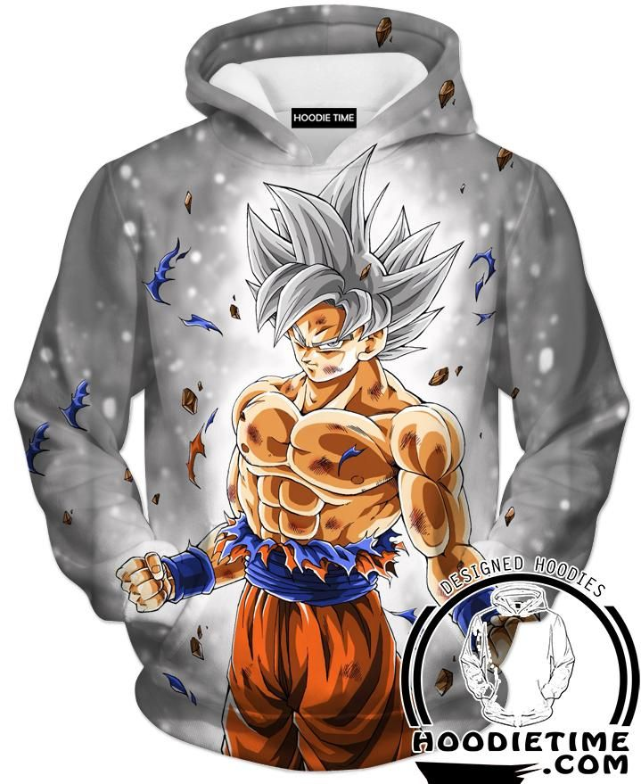 b85f6a118bdcb Silver Mastered Ultra Instinct Goku Hoodie - Dragon Ball Super Hoodies  Clothing