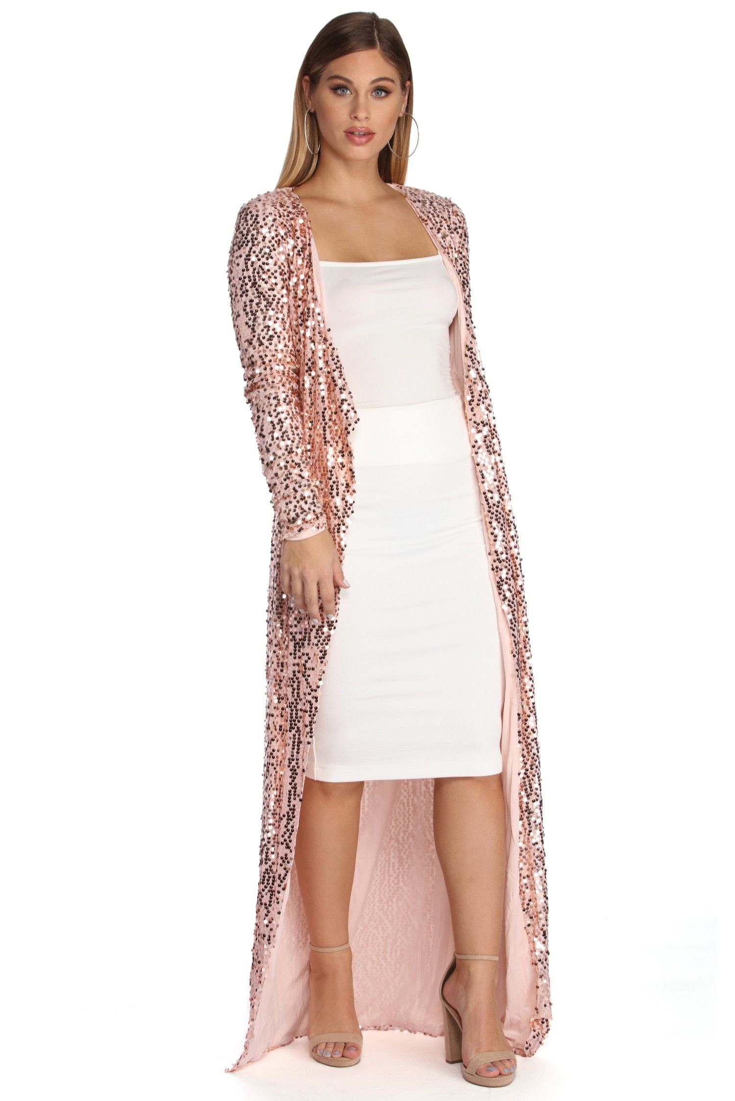 7ca115adba Trail Of Sequins Duster in 2019 | My style, cardigans | Sequins ...