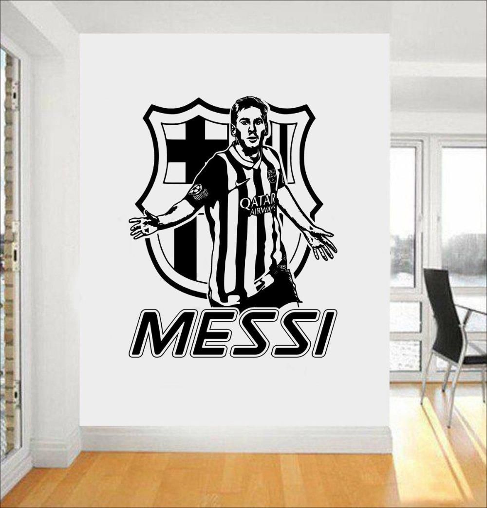 Best Visit To Buy Messi Cool Wall Stickers Service Soccer Player Barcelona Wall Decal Morden Design 400 x 300