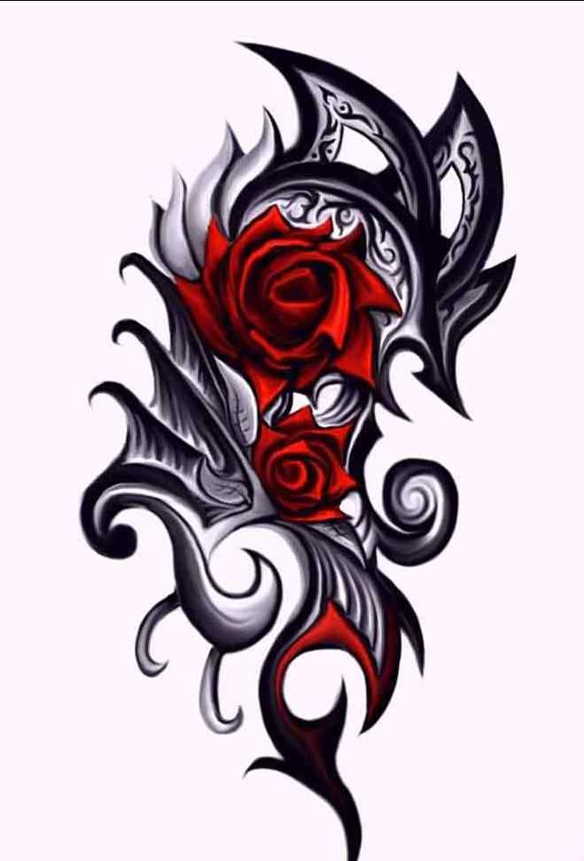 red rose tattoo   google search dragon pinterest