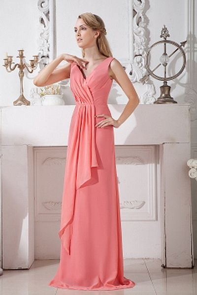 Mantel-Spalte Chiffon Elegant Party Kleider ba1799 - http://www.brautmode-abendkleid.de/mantel-spalte-chiffon-elegant-party-kleider-ba1799.html - Ausschnitt: V-Ausschnitt. Stoff: Chiffon. Ärmel: Ärmellos. Farbe: Pink. Silhouette: Mantel / Spalte. - 191.59