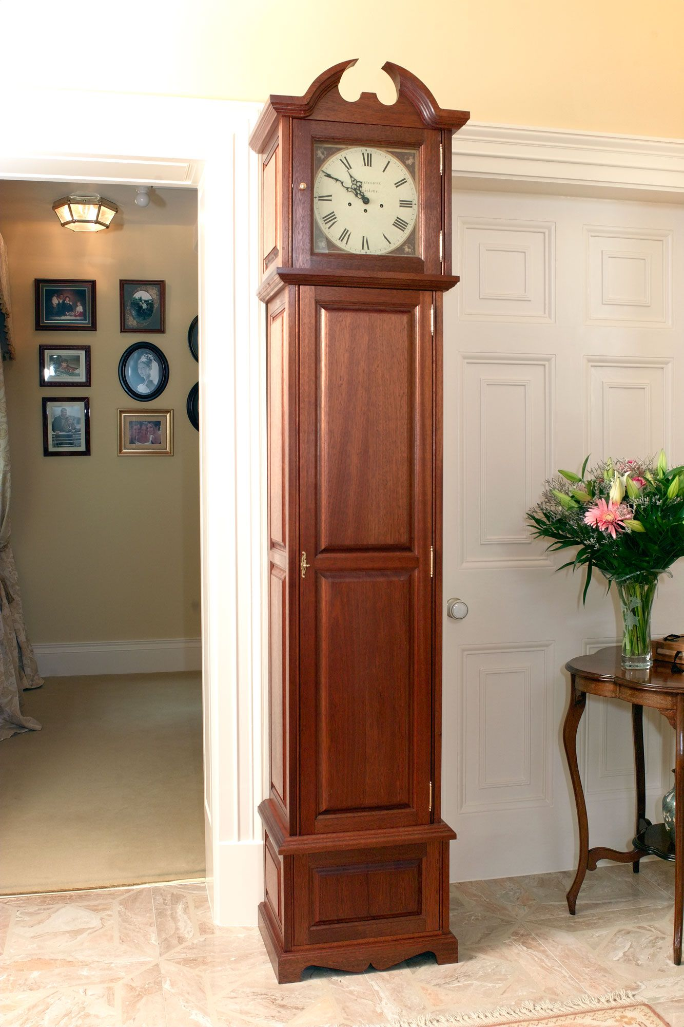 Grandfather Clock Gun Safe Closed Emergency