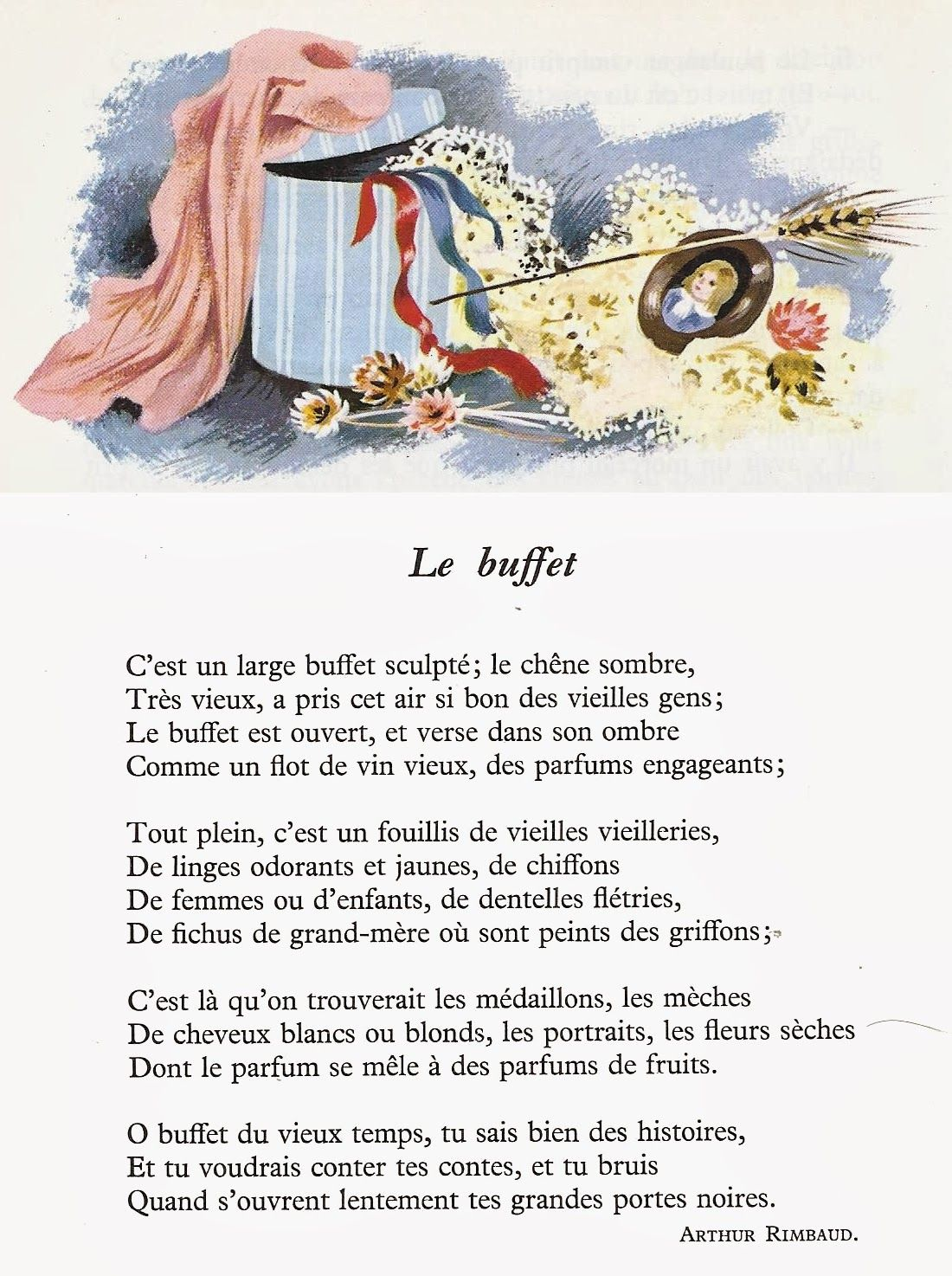 Le Buffet Arthur Rimbaud Poeme Francais Poesie Francaise Victor Hugo Poeme
